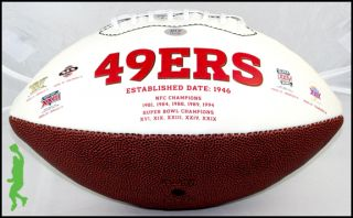 David Akers 63 Yarder Signed Auto San Francisco 49ers Football Ball