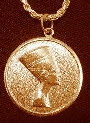 Gold Plated 925 Egyptian Egypt Queen Nefertiti Pendant