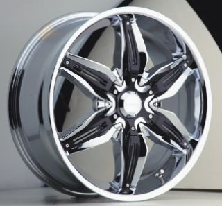 18 inch akuza rizza chrome wheels rims 5x4 5 5x114 3