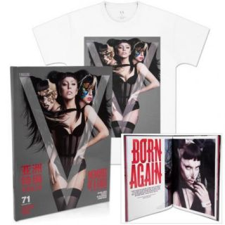 Lady Gaga V Magazine 71 Special Hard Bound Collectors Edition T Shirt