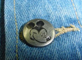 Disneyland Mickey Mouse Denim Jean Jacket Mens M Jerry Leigh