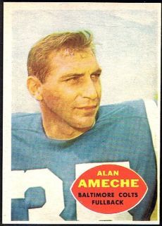 1960 Topps Football 2 Alan Ameche Balt Colts