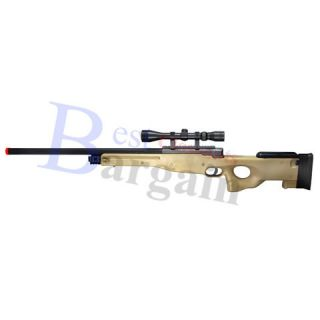 TSD SD96 L96 APS Type96 AccuShot Airsoft Gun Sniper Rifle Tan +Scope