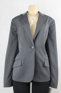 AK Anne Klein Women Blazer Jacket Charcoal Gray Size 22W