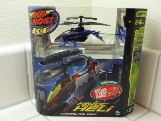 AIR HOGS INDOOR RADIO CONTROL HELICOPTER HAVOC HELI BLUE/ BLACK B NO