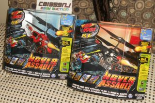 RC AIR HOGS HOVER ASSAULT ★ RED BLACK RADIO CONTROL HELICOPTER CAR R
