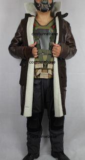 Bane Deluxe Full Costume Set TDKR Halloween Jacket Vest Pants Glove