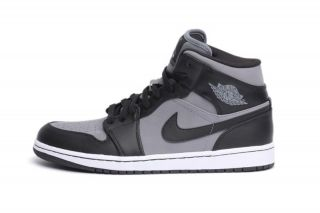 Nike Mens Air Jordan 1 Phat Black Grey 364770 023