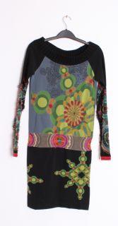 Desigual Womens Top Alanna Graphic Contrast Print Tunic Dress 2712881