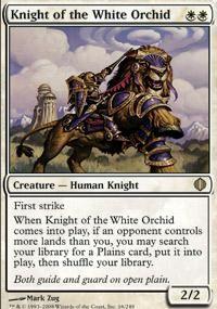 Knight of The White Orchid x4 Shards of Alara Magic MTG