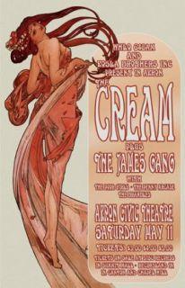 Cream James Gang 1968 Akron Concert Poster