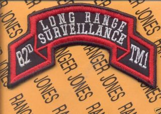 Team 1 82nd abn LRS Airborne Ranger Scroll Patch
