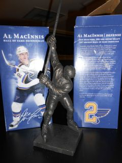 Al MacInnis Miniature Bronze Replica Statue St Louis Blues Hockey