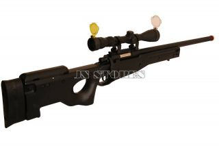 450FPS L96 Bolt Action Airsoft Sniper Rifle BK w Scope