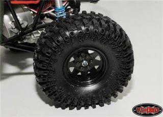 Scale Crawler 6 Lug Wagon Style Beadlock Wheels Black