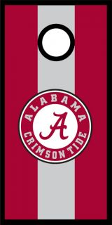 Alabama Crimson Tide Cornhole Game Decal Set