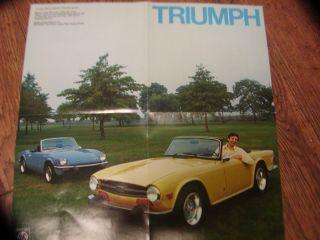1974 Triumph TR6 Spitfire Dealer Brochure Alan Alda