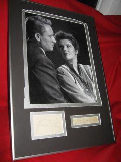 Spencer Tracy Autograph Katharine Hepburn Autograph Original