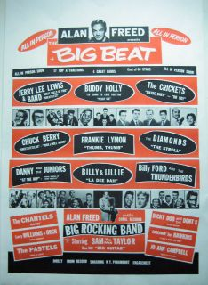 Alan Freed Big Beat Early Rock Poster Vintage Reprint
