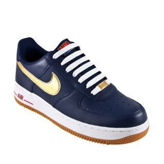 Nike Air Force 1 Low Midnight Gold USA Olympic Men Shoes 488298 406