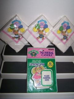 NEW Cabbage Patch Kids BIRTHDAY PARTY SUPPLIES Napkins NUMERAL CANDLE
