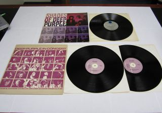 Lot of 2 Deep Purple LP Vinyl Record Albums