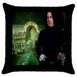 Severus Snape Alan Rickman 02 Black Throw Pillow Case