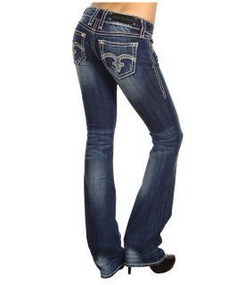 Rock Revival Alanis B3 Crystals Boot Denim Jeans Sz 32 Inseam 34 Op Co