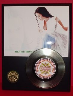Alanis Morissette 24KT Gold 45 Record Edition Display Award Quality