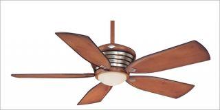 Minka Aire 52 Distressed Wood Brush Nickel Outdoor Fan