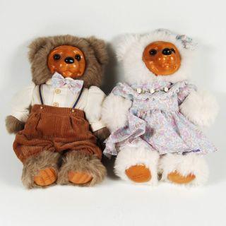 14 Wood Plush Teddy Bears Alec Allison Dolls Applause 54382
