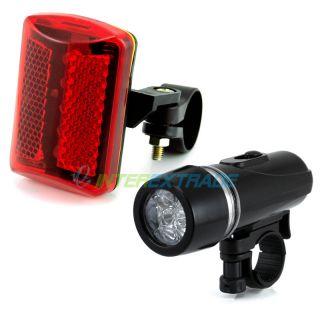 Bicycle Bike Head Rear Tail Alarm LED Flash Light Lamp