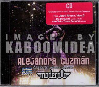 Alejandra Guzman 20 Años En Vivo Moderatto CD DVD New