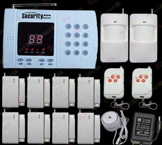 Wireless House Home Alarm Security System Auto Dialer W