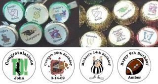 108 Football Birthday Candy Kiss Labels Favors Kisses