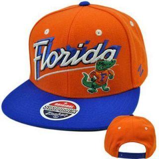 NCAA College Florida Gators Flat Bill Logo Snapback Zephyr Orange Blue