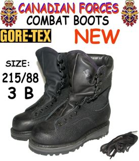 Canadian Army Gore Tex Combat Boots 3B 215 88 Cold Wet Weather DC