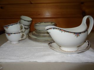 1983 Wedgewood Bone China Osborne england dinner ware set