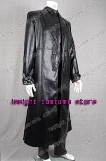 Resident Evil 5 Costume Albert Wesker Leather Coat Vest Pants Jacket