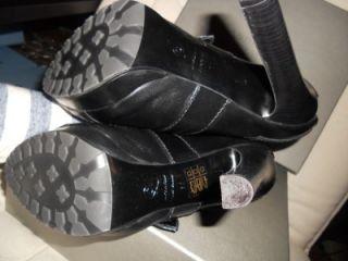 Alexander McQueen Buckle Buckled Leather Platform Ankle Bootie Boots