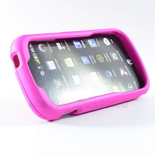 Pink Rubberized Hard Case Cover for Venture 910C One Touch 909B
