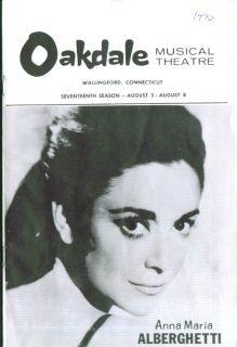 Anna Maria Alberghetti in Cabaret Oakdale 1970