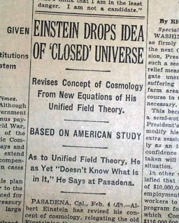 Unified Theory of Universe Albert Einstein Space Time Cosmology