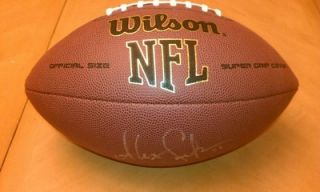 alex smith 49ers signed auto nfl football w coa