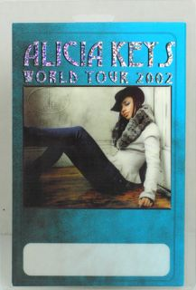 unused laser foil printed laminated backstage pass for the alicia keys