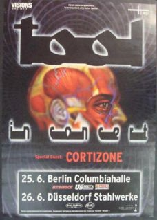 Tool Alex Grey Berlin 2001 Concert Poster Original