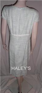 New Alex Marie Green Blue White Career Dress Size 16
