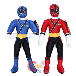 Power Ranger Samurai Plush Doll Set Large Stuffed Toy Red Blue 1