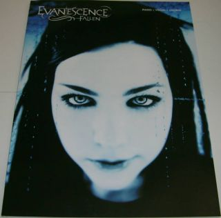 Evanescence Fallen Piano Vocal Chords Song Book Amy Lee