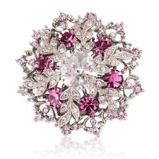 Beautiful White Swarovski Elements Crystal Xmas Snowflake Brooch